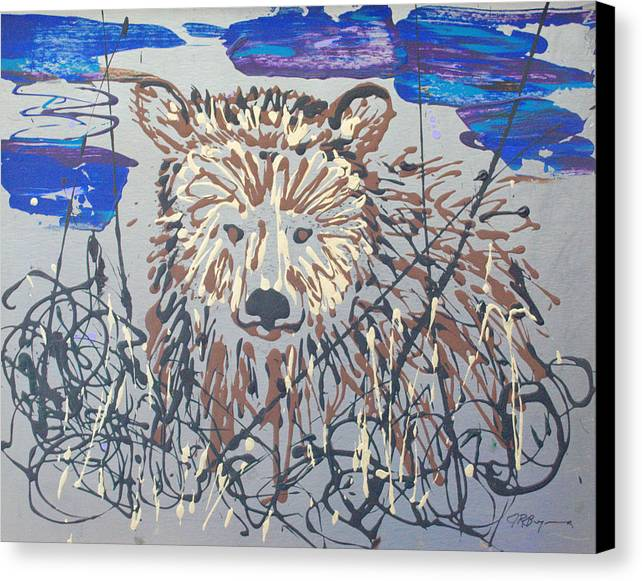 Abstract/impressionist Painting Canvas Print featuring the painting The Kodiak by J R Seymour