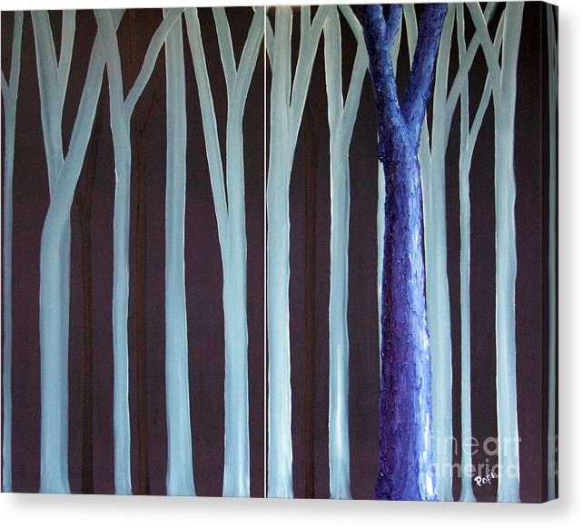 Abstract Canvas Print featuring the painting Down Front by Paul Anderson