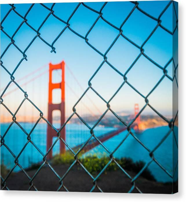 San Francisco Canvas Print featuring the photograph San Francisco Golden Gate Bridge by Cory Dewald