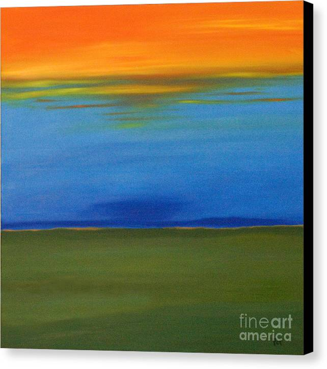 Sunrise Canvas Print featuring the painting Behind Again by Paul Anderson
