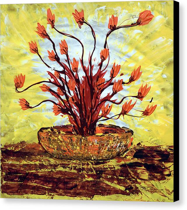 Impressionist Painting Canvas Print featuring the painting The Burning Bush by J R Seymour