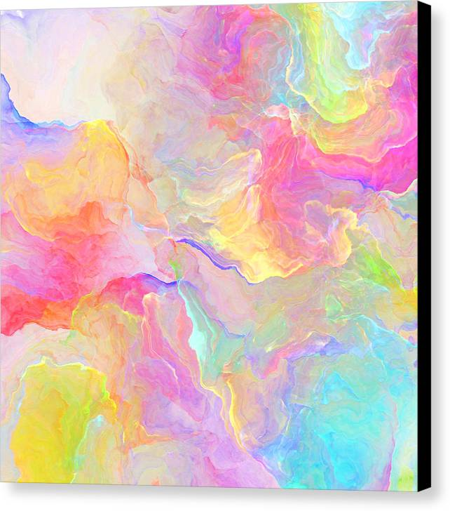 Abstract Canvas Print featuring the painting Eloquence - Abstract Art by Jaison Cianelli