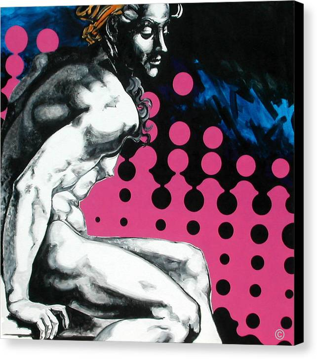 Pop Canvas Print featuring the painting Ignudo by Jean Pierre Rousselet