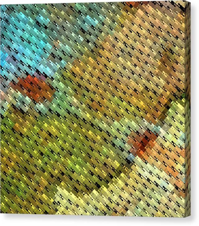 Jagged Canvas Print featuring the digital art Curb Appeal I by Shawn McCoy