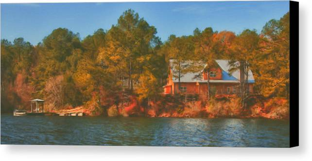 Farm Canvas Print featuring the photograph Lake House by Brenda Bryant