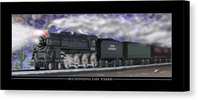 Time Related Art Canvas Print featuring the photograph Running On Time by Mike McGlothlen
