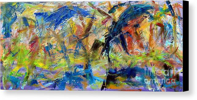 Paintings Canvas Print featuring the painting Untitled Abstract #2 by Greg Mason Burns