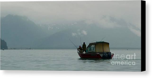 Valdez Canvas Print featuring the photograph A Misty Troll by Scott Henry