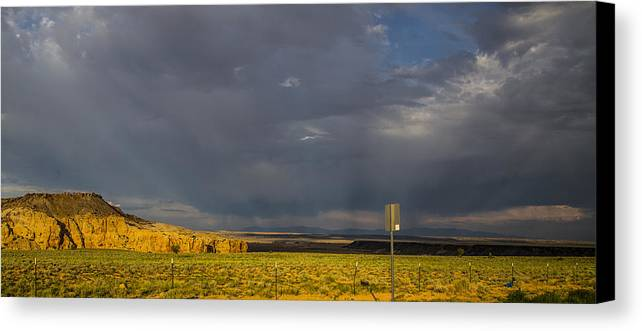 Route 66 Canvas Print featuring the photograph Desert Virga by Angus Hooper Iii