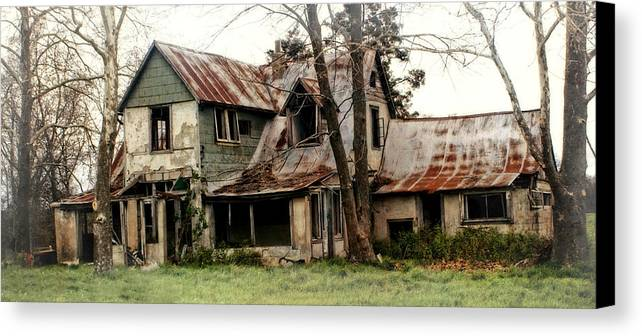 Haunted House Canvas Print featuring the photograph Haunted by Marty Koch