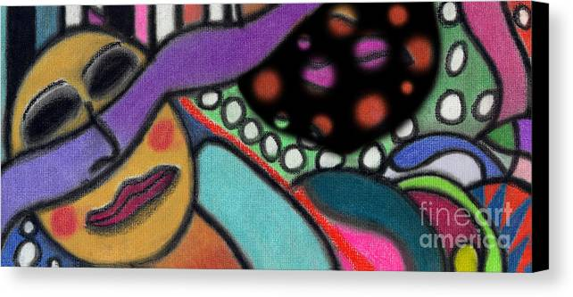 Abstract Canvas Print featuring the pastel Abstract Circular Figure by Christine Perry