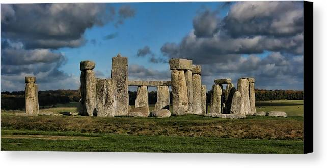 Stonehenge Canvas Print featuring the photograph Stonehenge by Heather Applegate