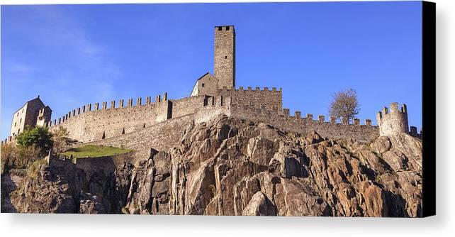 Castelgrande Canvas Print featuring the photograph Castelgrande - Bellinzona by Joana Kruse