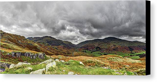 National Trust Canvas Print featuring the photograph Hardknott Pass. by Angela Aird