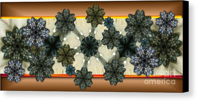 Abstract Canvas Print featuring the digital art Kaleidoscopeflowers by Ron Bissett