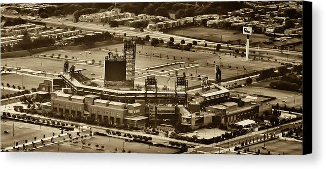 Sports Canvas Print featuring the photograph Phillies Stadium - Citizens Bank Park by Bill Cannon