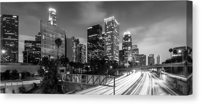 Los Angeles Canvas Print featuring the photograph  Los Angeles by Radek Hofman