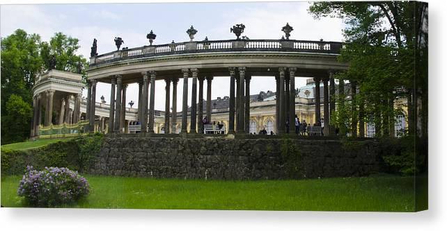 Neuer Garten Canvas Print featuring the photograph Schloss Sanssouci Gardens by Jon Berghoff