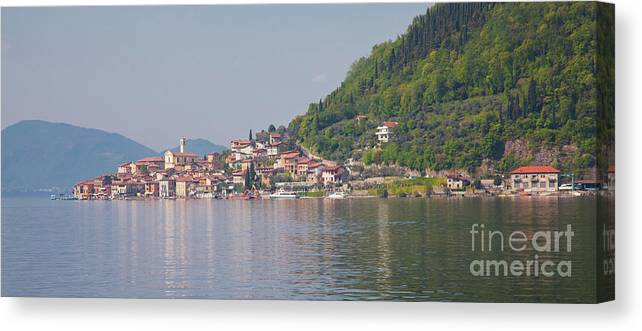 Iseo Canvas Print featuring the photograph Peschiera Maraglio by Gabriela Insuratelu