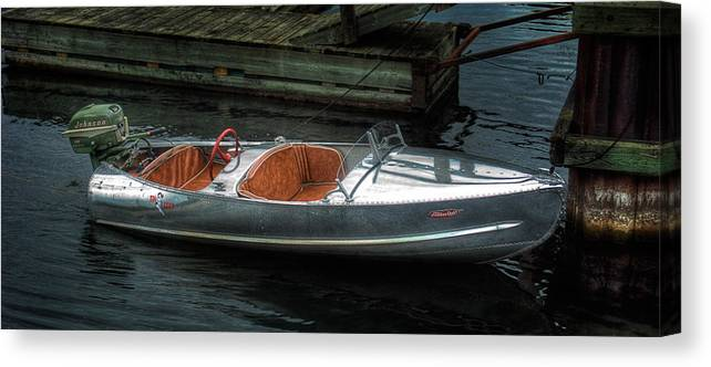 Aluminum Canvas Print featuring the photograph Cute Boat - 1948 Feather Craft by John Herzog