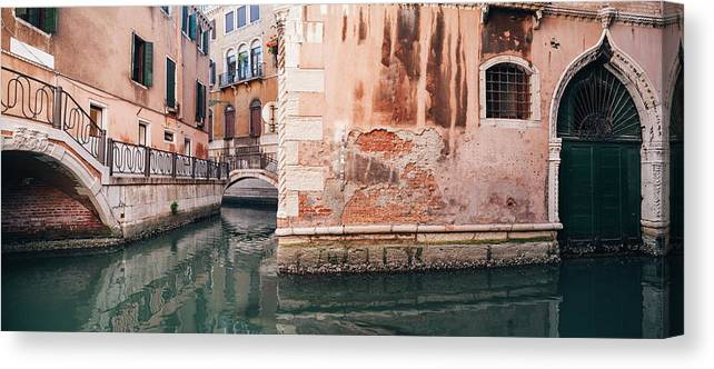 Venice Canvas Print featuring the photograph Canal In Venice, Italy by Ivan Bastien
