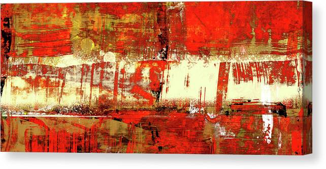 Indian Summer Red Contemporary Abstract Canvas Print