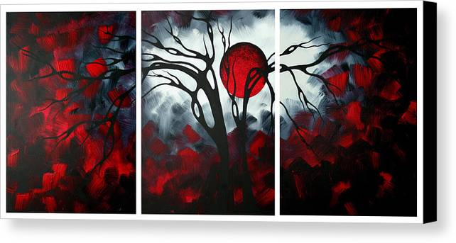 Abstract Canvas Print featuring the painting Abstract Gothic Art Original Landscape Painting Imagine By Madart by Megan Duncanson