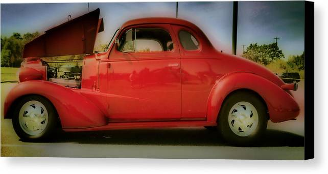 Hdr Canvas Print featuring the photograph Cherry Bomb  Hdr by Thomas MacPherson Jr
