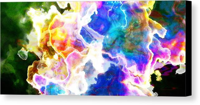 Abstract Art Canvas Print featuring the mixed media Essence - Abstract Art by Jaison Cianelli