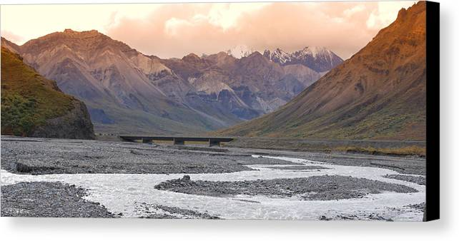 Alaska Canvas Print featuring the photograph Savage River by Jim Cook