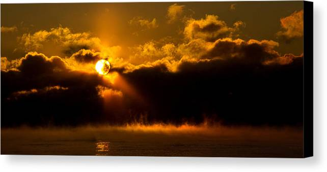 Horizons Canvas Print featuring the photograph Zero Degree Steam by Phil Koch