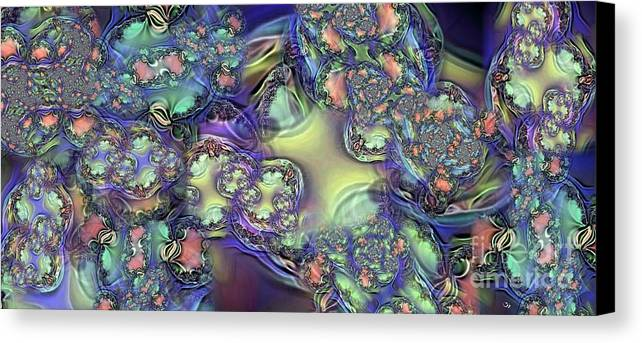 Abstract Canvas Print featuring the digital art Phytoplankton by Ron Bissett