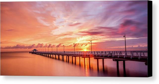 Australia Canvas Print featuring the pyrography Beautiful Sunrise by Cameron Richardson
