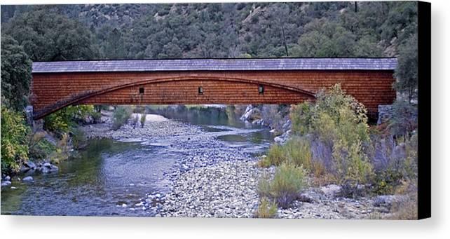 Bridge Canvas Print featuring the photograph Bridgeport Covered Bridge by BuffaloWorks Photography