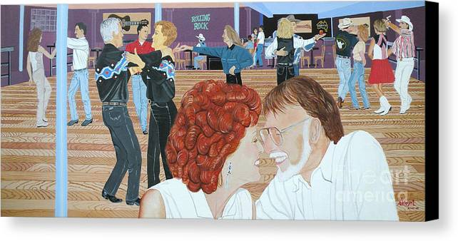 Dance Canvas Print featuring the painting Guitars And Cadillacs Omaha by Christine Belt