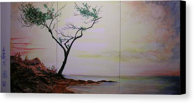 Sunrise Canvas Print featuring the painting Health Wealth And Benevolence by Lizzy Forrester