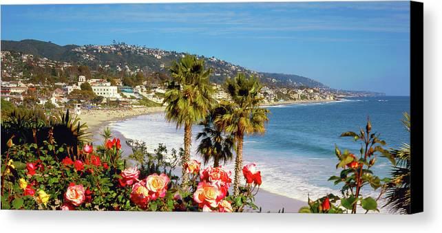 Laguna Beach Canvas Print featuring the photograph Laguna Beach Springtime Pano by Cliff Wassmann