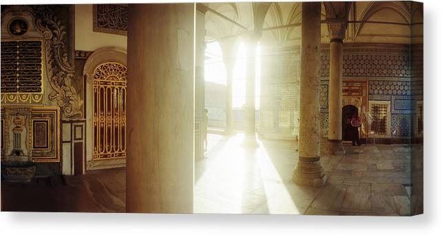 Photography Canvas Print featuring the photograph Interiors Of Topkapi Palace by Panoramic Images