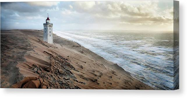 Sand Canvas Print featuring the photograph Crack In Time II by J?rg Hubrich