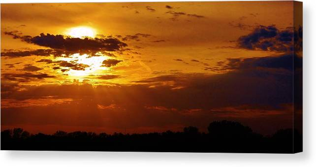 Sunset Canvas Print featuring the photograph Passing Of Another Day by Bruce Bley