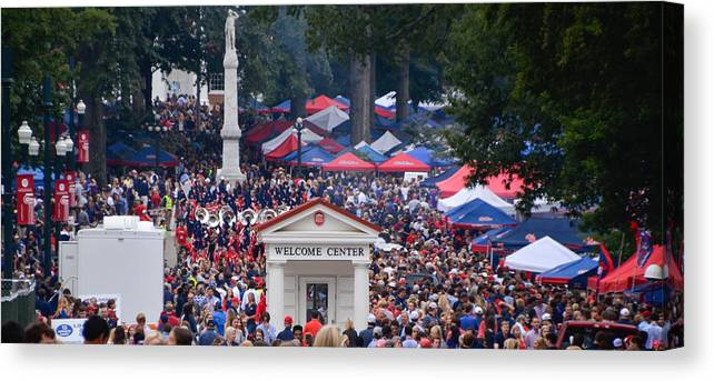 Ole Miss Canvas Print featuring the photograph Tailgating At Ole Miss by Luke Pickard