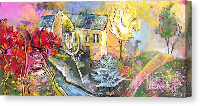 Landscape Painting Canvas Print featuring the painting La Provence 11 by Miki De Goodaboom