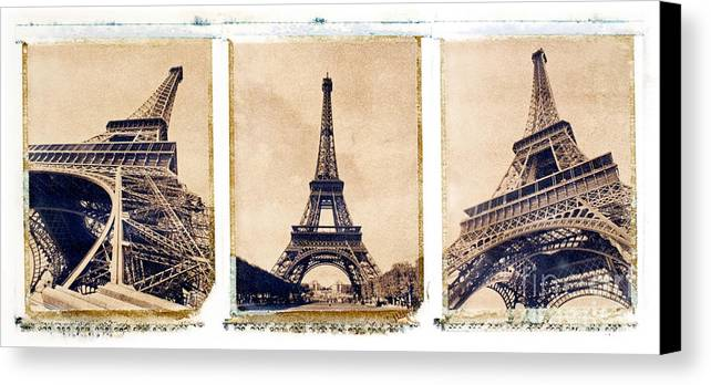 Eiffel. Tower Canvas Print featuring the photograph Eiffel Tower by Tony Cordoza