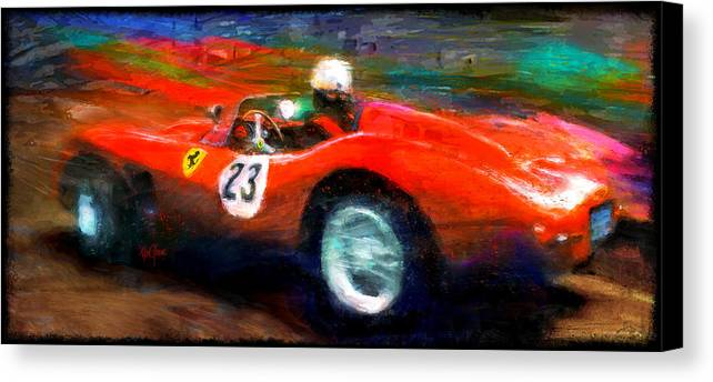 Ferrari Canvas Print featuring the digital art Red Stallion by Alan Greene