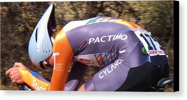 Tour Of The Gila Canvas Print featuring the photograph Streamlined For Speed by Feva Fotos