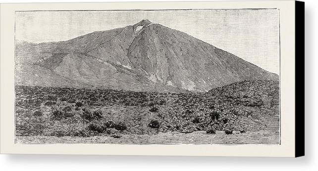Peak Canvas Print featuring the drawing The Peak Of Tenerife, From The Canadas On The South by Canadian School