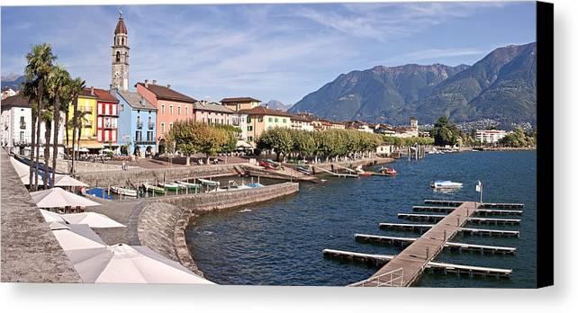 Apartment Canvas Print featuring the photograph Ascona - Ticino by Joana Kruse