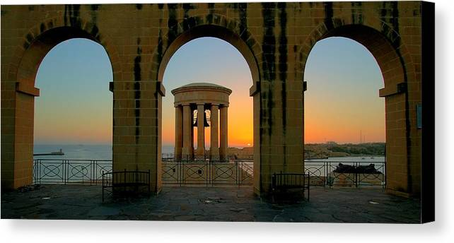 Arches Canvas Print featuring the photograph Maltese Sunrise by James Walsh