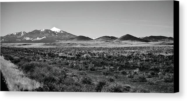 Landscape Canvas Print featuring the photograph San Francisco Peaks by Gilbert Artiaga