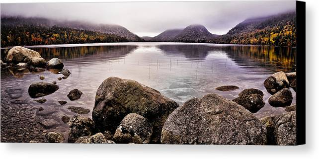 Jordan Pond Canvas Print featuring the photograph Jordan Pond by Chad Tracy